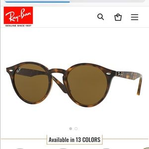 Ray Ban 2180 Round Tortoise Brown Lens Sunglasses